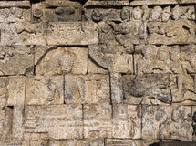 Relief at Borobudur temple on Java, Indonesia Stock Photography