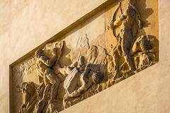 Relief on the Brandenburg Gate Stock Image