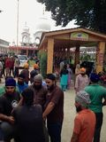 Relief camp at a Sikh Temple in India Royalty Free Stock Photography