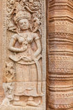 Relief carved stone of ancient Buddhist cosmology, Thailand Royalty Free Stock Photography