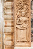 Relief carved stone of ancient Buddhist cosmology, Thailand Stock Photography