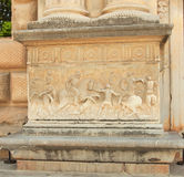 Relief carving of a battle scene. Alhambra Stock Images