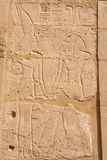 Relief carving. Karnak Temple, Luxor, Egypt Royalty Free Stock Photography