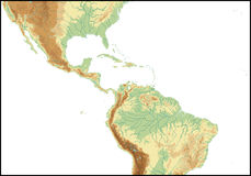 Relief Of Central America. Stock Photo