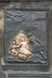 Relief on Charles' Bridge. Prague. Martyrium st. John Nepomuc Stock Photography