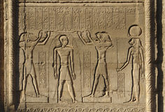 Relief at Chnum Temple in Egypt Royalty Free Stock Photo