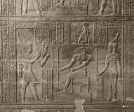 Relief at Chnum Temple in Egypt Royalty Free Stock Photography