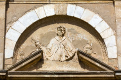 Relief on the Church of San Pietro in Volterra Stock Photography