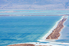 Relief of Dead sea from mountains, Israel Stock Photo
