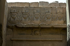 A relief depicting the god Hathor at the Temple of Isis at Philae in Egypt. Royalty Free Stock Images