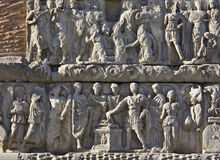 Relief detail from Galerius arch at Thessaloniki, Stock Photo