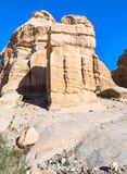 Relief on Djinn Blocks at Bab as-Siq road to Petra Stock Photography