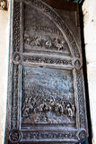 The relief door in the Castle Nuovo, Naples, Italy Stock Photography