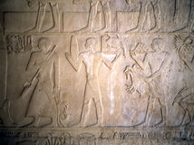 Relief, Egypt. Wall Relief  from Egupt seen in Egyptian Museum in Cairo Royalty Free Stock Photos