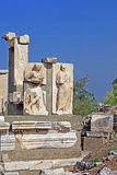 Relief in Ephesus. Ancient Greek city on the coast of Ionia near Selcuk Stock Image