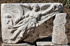 A relief in Ephesus city. Izmir, Turkey Royalty Free Stock Photography