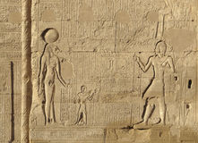 Relief at the Esana temple in Egypt Stock Photography