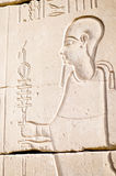 Relief of the God Ptah, Karnak, Egypt. Stock Images
