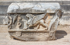 Relief with griffin Stock Image