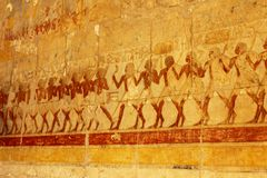 Relief from Hathepsut temple Stock Photography