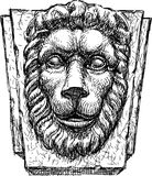 Relief a head of  lion Stock Image