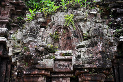 Relief of Hindu Temples at My Son, Vietnam Royalty Free Stock Photos