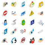 Relief icons set, isometric style. Relief icons set. Isometric set of 25 relief vector icons for web isolated on white background Stock Photo