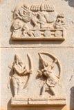 Relief inside Hazara Rama temple show Rama and Ravana, Hampi. Karnataka, India, Asia stock photography