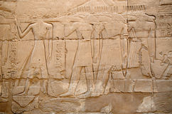 Relief in Karnak, Egypt Stock Image