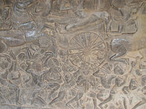 The relief of Khmer Culture in Angkor Wat, Cambodia Stock Photography