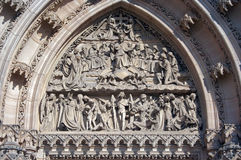 Relief of the Last Judgement Royalty Free Stock Images