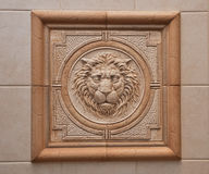 Relief of lion Royalty Free Stock Photography