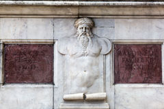 Relief at the Loggia dei Lanzi, Florence, Italy Stock Photo