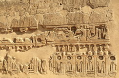 Relief in Luxor Temple Royalty Free Stock Photo