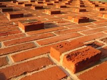 Relief masonry brick wall Stock Photos