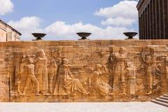 Relief at Mausoleum of Mustafa Kemal Atatürk Stock Image