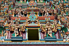 Relief of Menakshi Temple Royalty Free Stock Images