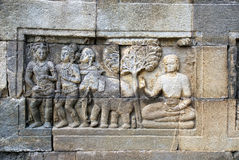 Relief in Mendut Temple Royalty Free Stock Image