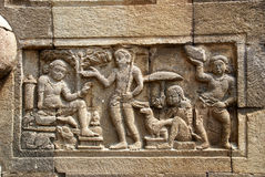 Relief in Mendut Temple Royalty Free Stock Photography