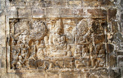 Relief in Mendut Temple Royalty Free Stock Photos