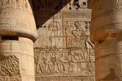 Relief at Mortuary Temple of Ramses III. In Luxor,,Egypt royalty free stock photography