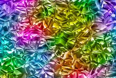 Relief multicolored shining crystal glass backgrounds Royalty Free Stock Photos