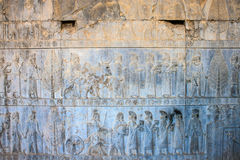 Relief of nations in Persepolis Royalty Free Stock Photography