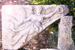 Relief Of Nike, Winged ,Goddess Of Victory At Ancient Ephesus. At Turkey Stock Image