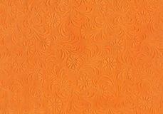Relief orange cardboard Royalty Free Stock Photo