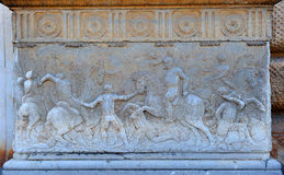 Relief in the Palace of Charles V, Granada, Spain Royalty Free Stock Images