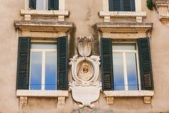 Relief on Palazzo dei Tribunali in Verona Stock Image