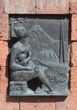 Relief picture on building near Etchmiadzin Royalty Free Stock Photography