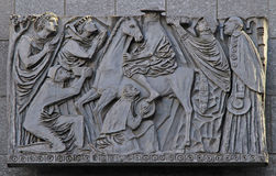 Relief picture on the street in Milan Royalty Free Stock Images