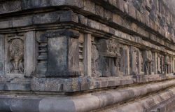 Relief of prambanan temple body royalty free stock photography